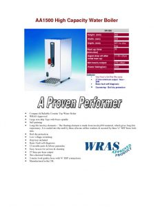 thumbnail of AA1500 Counter-top Hot Water Boiler
