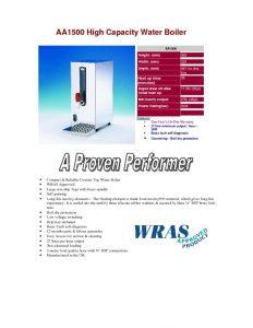 thumbnail of AA1500 Counter-top Hot Water Boiler